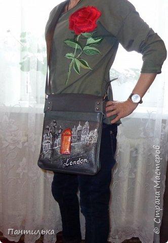 """Летняя сумка с объёмными цветами и пейзажем..."""" БЕЛЕЕТ ПАРУС..."""" фото 7"""