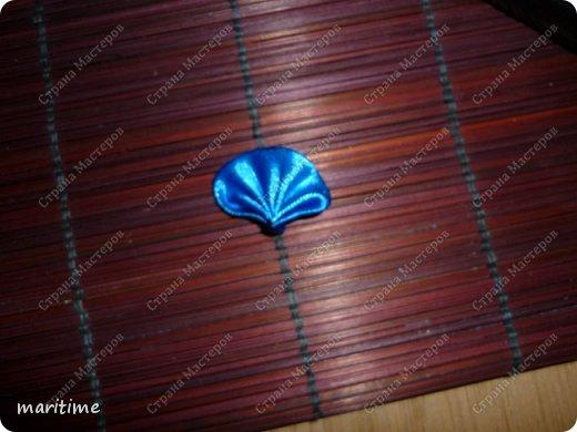 круглый лепесток канзаши из складок фото 1