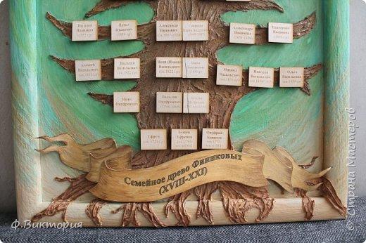 """Здравствуйте! Сегодня хочу Вам показать панно """"Семейное древо"""". Делала ко дню рождения папы)) Спасибо дяде Алексею, за предоставленный материал, который собирался годами. И теперь наша семья знает своих предков с самого начала нашей фамилии!!! фото 3"""