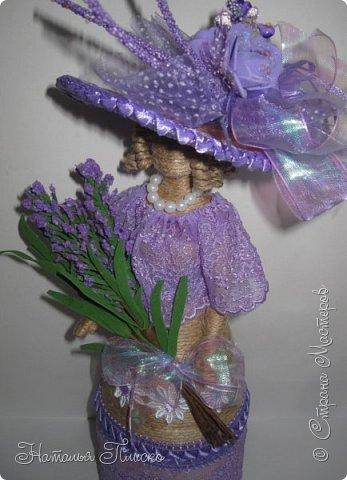 Ещё раз здравствуйте, дорогие друзья!!! Продолжаю тему кукол... Когда-то у меня уже была Леди Прованс (http://stranamasterov.ru/node/767536), но я её подарила одной замечательной девушке. С тех пор, почти два года, я всё собиралась её повторить для своей коллекции, и долго бы ещё собиралась, если б не выставка - благодаря ей моя коллекция пополнилась сразу на двух куколок))))) Первая у меня здесь - http://stranamasterov.ru/node/1016072, теперь предлагаю рассмотреть девушку из Прованса))))) фото 6