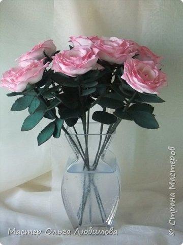 Подарок для подруги. Людмила любит нежно-розовые розы. Признаюсь, думала, что не успею, но все сложилось. фото 1