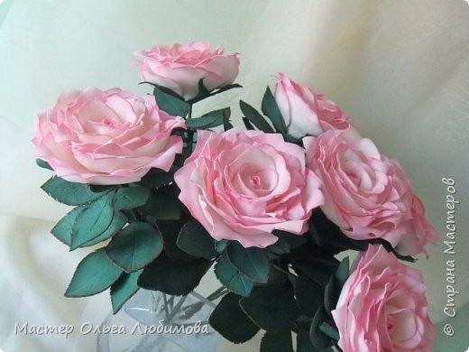 Подарок для подруги. Людмила любит нежно-розовые розы. Признаюсь, думала, что не успею, но все сложилось. фото 3