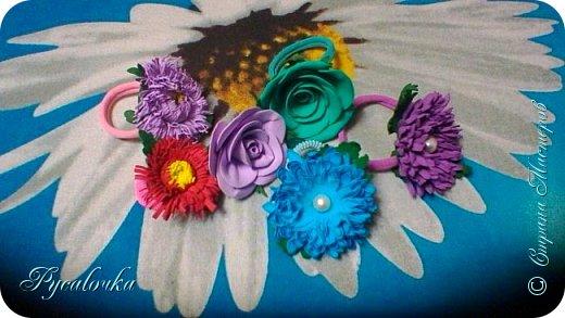 Добрый день, жители СМ! Сегодня мне хочется показать Вам свои работы из фоамирана. Это заколка с весенними цветами. фото 9