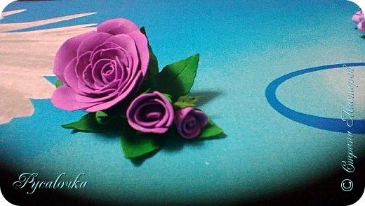 Добрый день, жители СМ! Сегодня мне хочется показать Вам свои работы из фоамирана. Это заколка с весенними цветами. фото 3