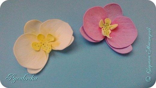 Добрый день, жители СМ! Сегодня мне хочется показать Вам свои работы из фоамирана. Это заколка с весенними цветами. фото 8