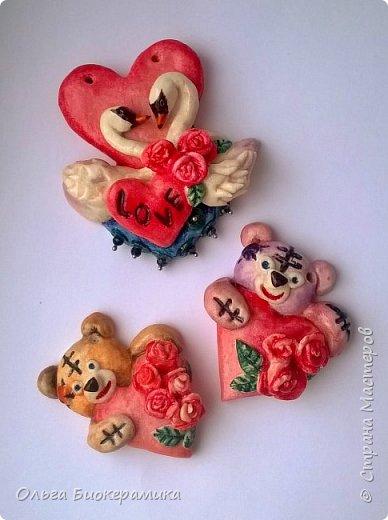 Валентинки из солёного теста. фото 1