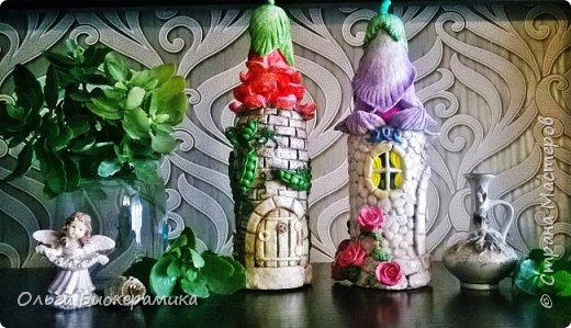 Цветочный домик из солёного теста. фото 3
