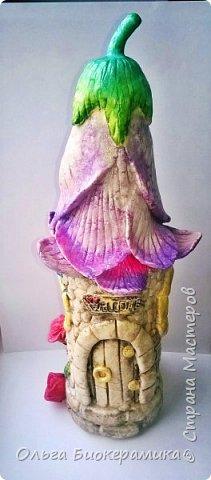 Цветочный домик из солёного теста. фото 2
