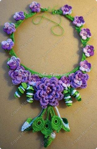 Цветочное ожерелье по мотивам Сильвии Грамани фото 1