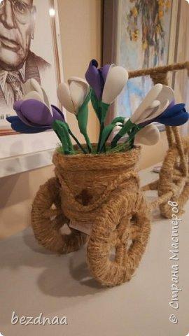 Всем привет)))  Огромное спасибо Sjusen за ее МК http://stranamasterov.ru/node/505344?c=favorite  Нужна была весенняя поделка в детский сад. А первая ассоциация со словом весна - конечно подснежники)))  Смотрите, друзья, что получилось у меня.  фото 2