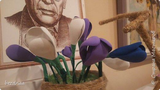 Всем привет)))  Огромное спасибо Sjusen за ее МК http://stranamasterov.ru/node/505344?c=favorite  Нужна была весенняя поделка в детский сад. А первая ассоциация со словом весна - конечно подснежники)))  Смотрите, друзья, что получилось у меня.  фото 6