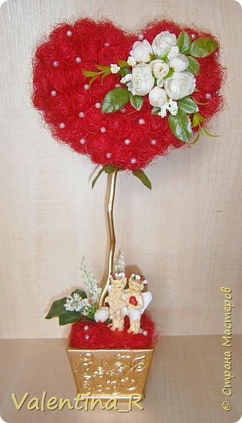 Моё сизалевое сердечко. В День всех влюбленных - 14 февраля - принято дарить подарки возлюбленным. Но зачем загонять себя в рамки одного дня, когда можно радовать свою половинку круглый год ))) фото 1