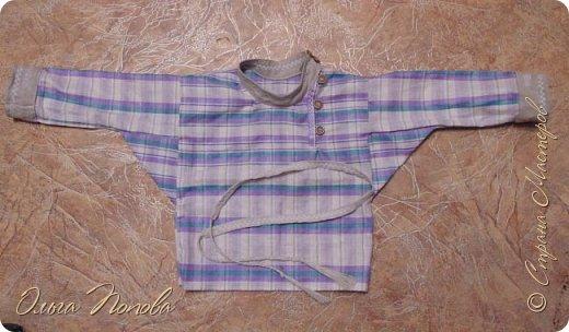 Вот льняную рубашечку в народном стиле сшила, с клинышками под мышкой. фото 1