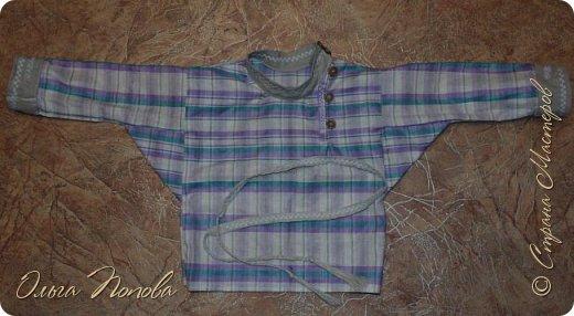 Вот льняную рубашечку в народном стиле сшила, с клинышками под мышкой. фото 6