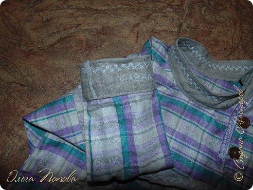 Вот льняную рубашечку в народном стиле сшила, с клинышками под мышкой. фото 4