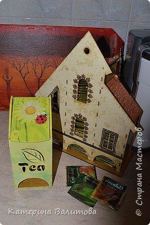 Здравствуйте дорогие мастерицы!Налюбовавшись чайными домиками,сделанными мастерицами нашей страны,я тоже приобрела заготовки и украсила их. фото 5