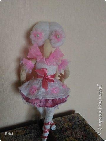 Кукла-балерина. Высота 35 см. Из трикотажа. В ножках проволока фото 2