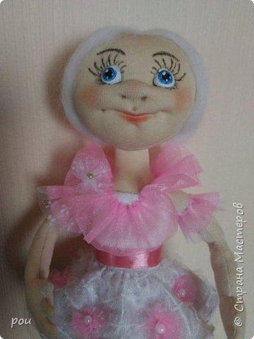 Кукла-балерина. Высота 35 см. Из трикотажа. В ножках проволока фото 3