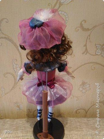 Кукла-балерина. Высота 35 см. Из трикотажа. В ножках проволока фото 5