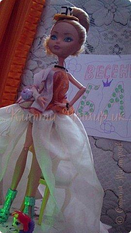 Привет!Мы сдаем эту  работу на конкурс ''Весенний бал Беатриче'!  В ВК наше платье оценили так :1/10 Но оно так задумано! фото 16