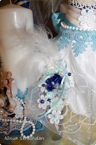Вот такой у меня получился свадебный набор аксессуаров для потрясающей пары. фото 21
