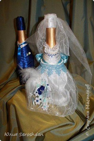 Вот такой у меня получился свадебный набор аксессуаров для потрясающей пары. фото 17
