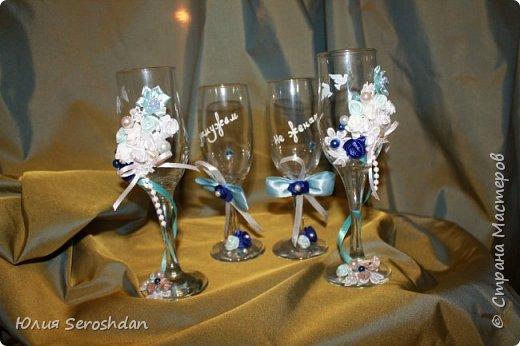 Вот такой у меня получился свадебный набор аксессуаров для потрясающей пары. фото 7