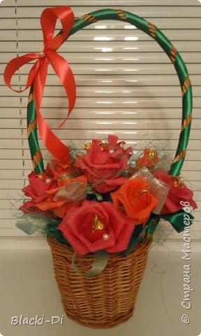 Розы из конфет фото 1