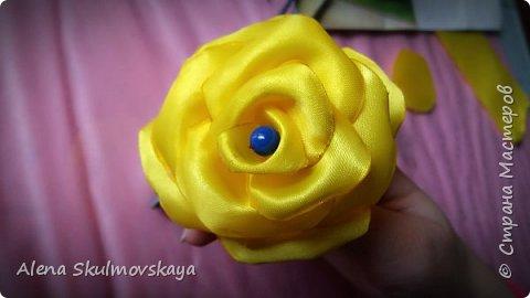 розы из атласных лент фото 14