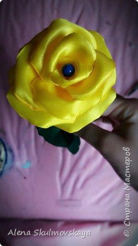 розы из атласных лент фото 29