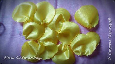 розы из атласных лент фото 9