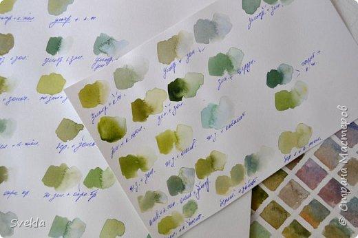 Эксперименты по смешиванию красок для начинающих. Получаем зелёный.