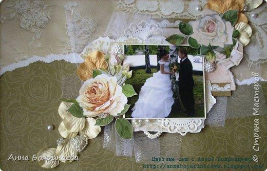 Всем привет!!!! Сегодня я со свадебной объемной страничкой. Размер 30*30 см.Теперь висит на стене и радует)))) фото 3