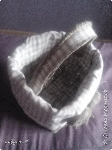 Моя первая корзиночка из мешковины....ее размер 18см х 18см, мастерила ее для пасхи, поэтому специально придела ручку... фото 2