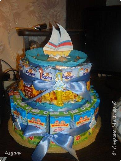 Вот такой тортик МЫ сделали в детский сад!!!! фото 1