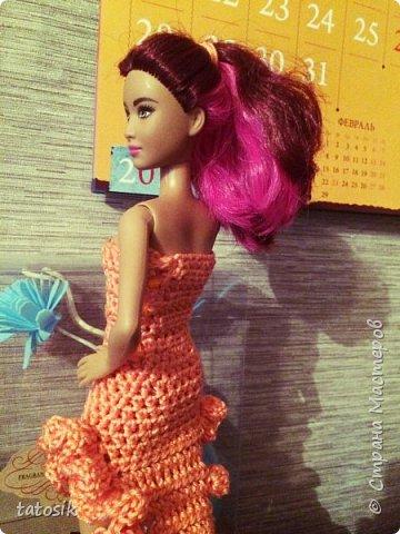 Одежда крючком для Barbie фото 2