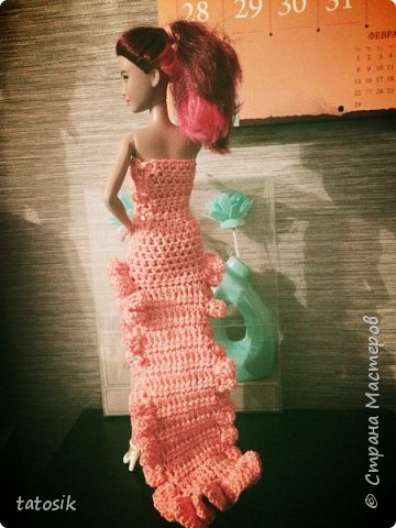Одежда крючком для Barbie фото 3