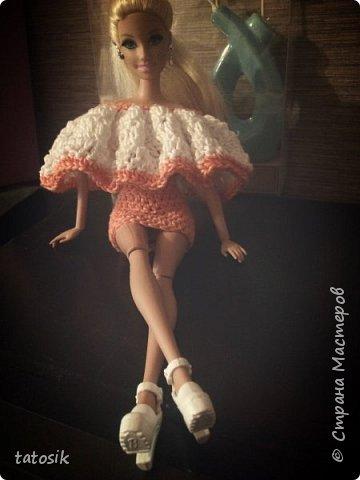 Одежда крючком для Barbie фото 13