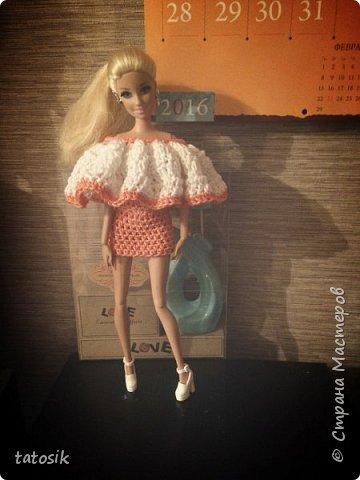Одежда крючком для Barbie фото 15