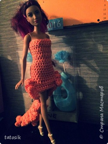 Одежда крючком для Barbie фото 4