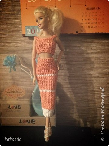 Одежда крючком для Barbie фото 5