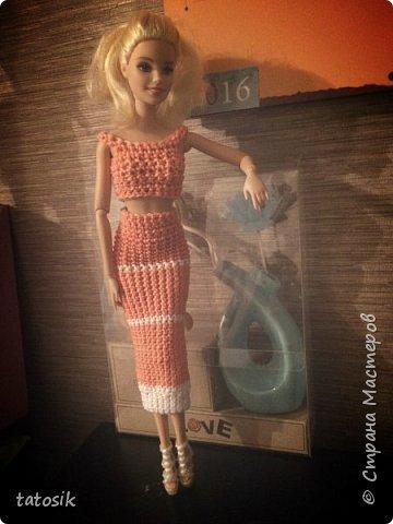 Одежда крючком для Barbie фото 6