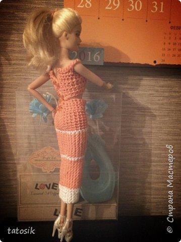Одежда крючком для Barbie фото 7