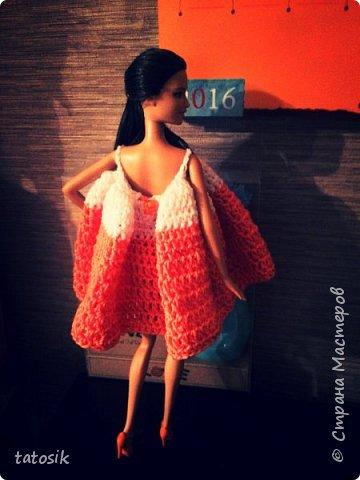 Одежда крючком для Barbie фото 9