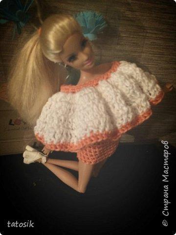 Одежда крючком для Barbie фото 10