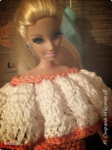 Одежда крючком для Barbie фото 11