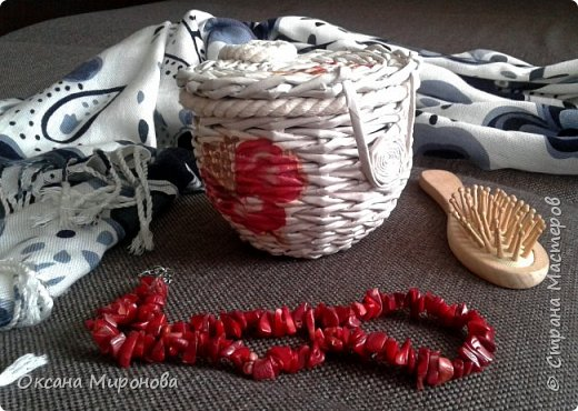 Еще не много нового, маленькие плетёнки под всякую мелочь )) фото 4