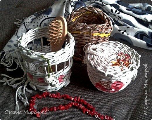 Еще не много нового, маленькие плетёнки под всякую мелочь )) фото 1