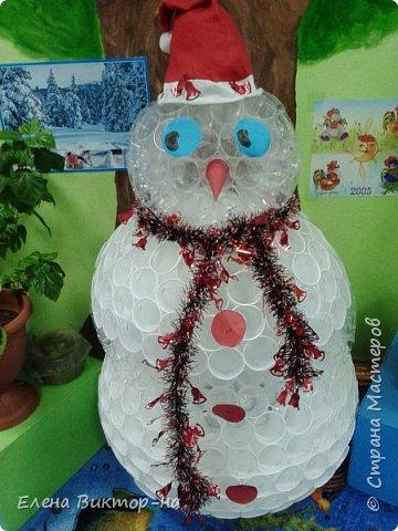 Наша небольшая подборочка (из тех фото,что остались) для ваших приятных воспоминаний о весёлом новом годе.  Такого снеговика сделала для нас семья Артёма Калинина. Детишки были в восторге! фото 1