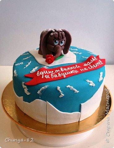 Вот такой яркий с пряничками получился у меня тортик на годовасие одной очень миленькой девчушке ))) фото 19